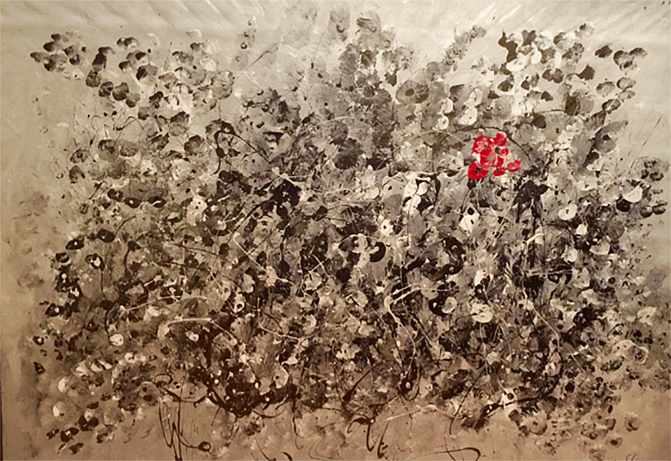A Wish is a Beautiful, Colorful Flower of Hope: Make a Wish Foundation, acrylic on canvas 30x40