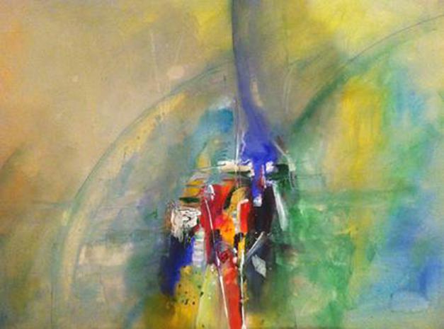 Enlightened, watercolor on paper 22x30