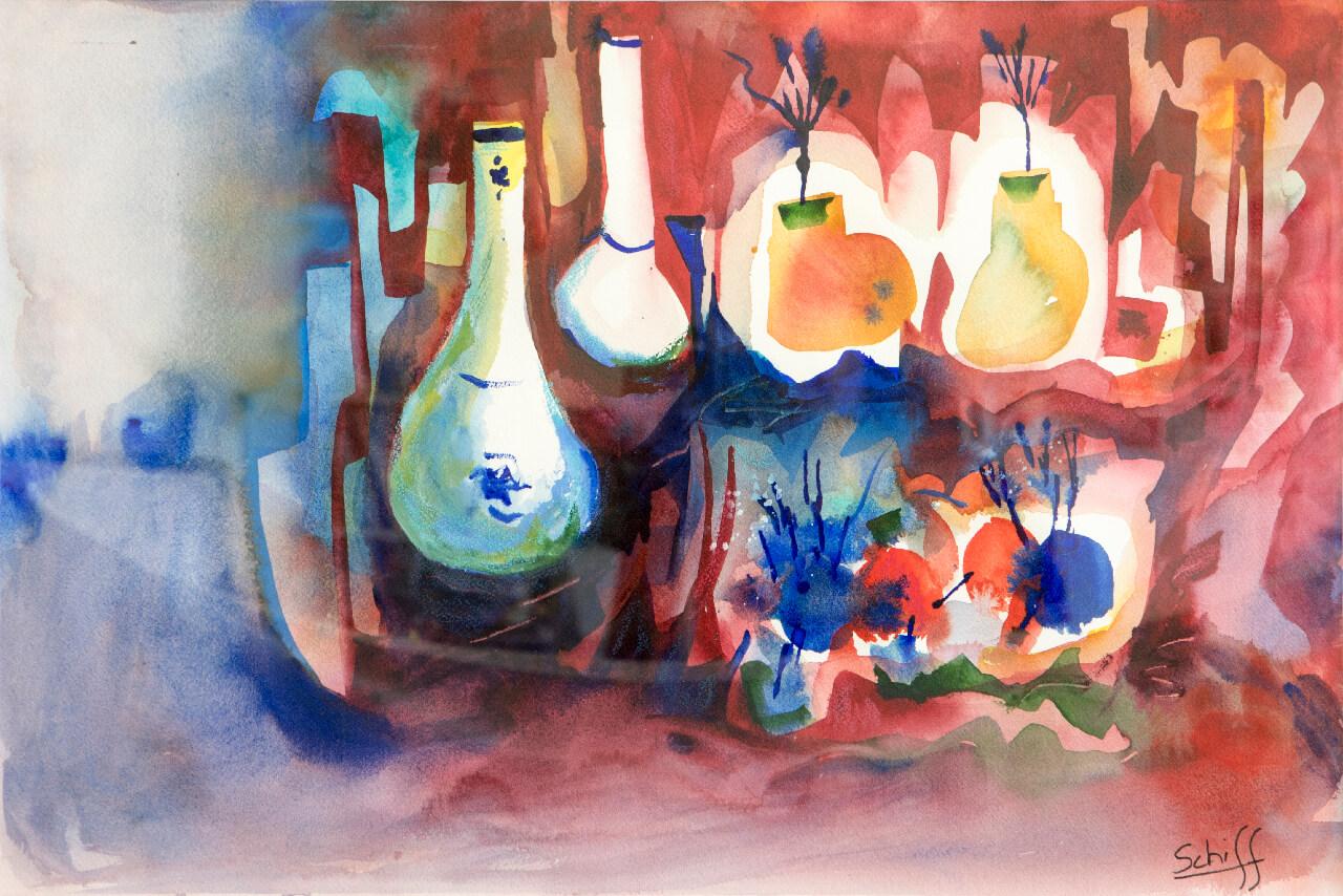 Kitchen Utensils, watercolor on paper 15x22
