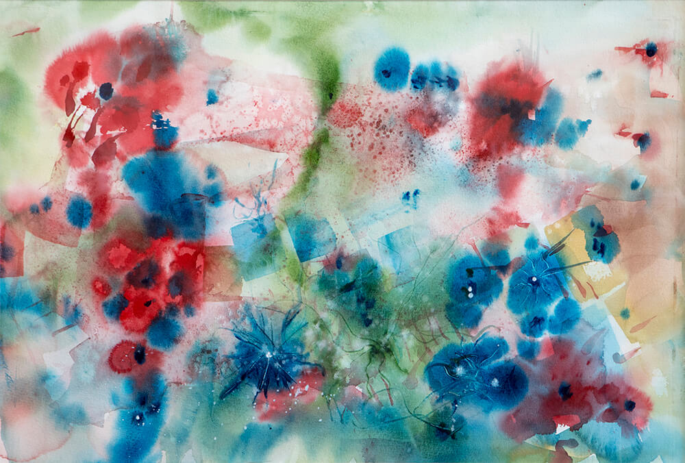 Eternity Flowers, watercolor on paper 15x22
