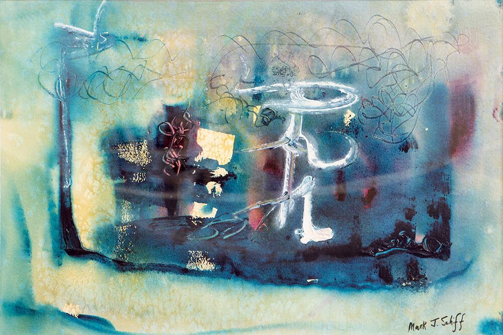 Parsvakanasana, watercolor on paper 15x22