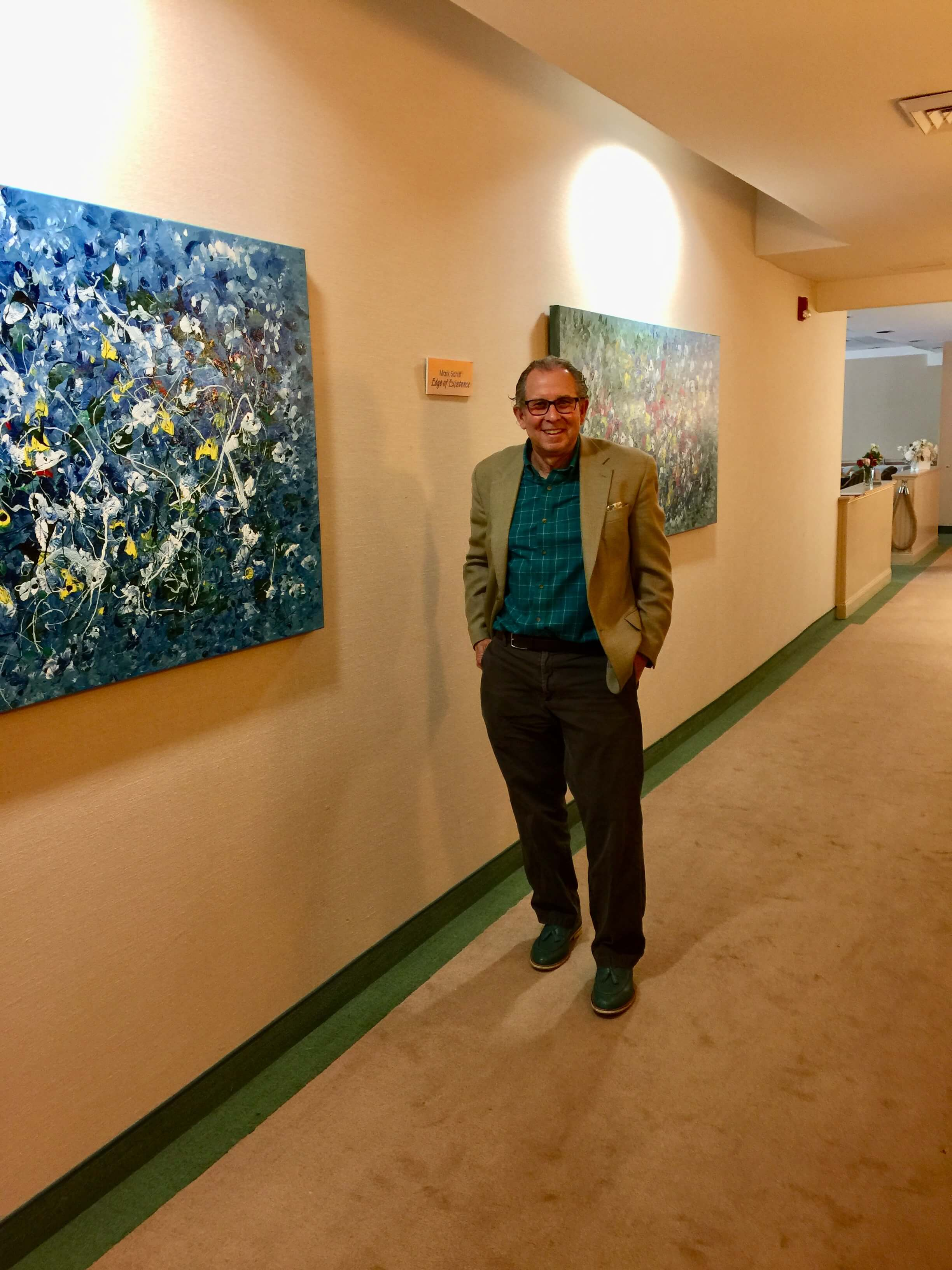 Mark Schiff with painting